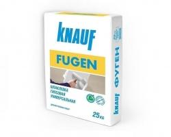 Шпаклевка Knauf-Фуген 25кг 0,25кг/м2 для заделки швов,приклеивания ГКЛ,шпакл. д/внутр.раб 1/45